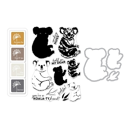 Hero Arts - Stamp, Die & Ink Kit - Color Layering Koala Bundle