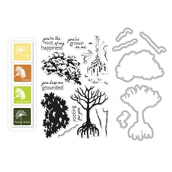 Hero Arts - Stamp, Die & Ink Kit - Color Layering Mangrove Bundle