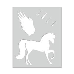Hero Arts - Stencil - Winged Pegasus Stencil