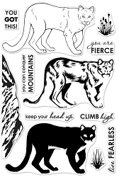 Hero Arts - Clear Stamp - Color Layering Mountain Lion