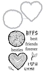 Hero Arts - Stamp & Cut - Besties Stamp & Cut