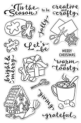 Hero Arts - Clear Stamp - In For The Holidays