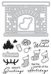 Hero Arts - Stamp & Cut - Winter Hearth