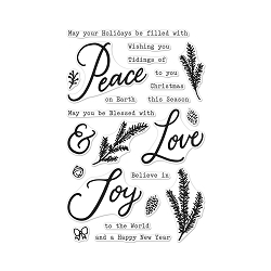 Hero Arts - Clear Stamp - Peace, Love & Joy