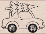 Hero Arts-Wood Mounted Rubber Stamp-Car With Tree :)