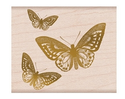 Hero Arts - Wood Mounted Stamp - Butterfly From The Vault