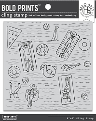 Hero Arts - Cling Rubber Stamp - Pool Party Bold Prints