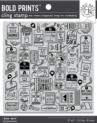 Hero Arts - Cling Rubber Stamp - Destination Home Bold Prints