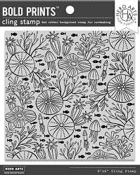 Hero Arts - Cling Rubber Stamp - Underwater Pattern Bold Prints