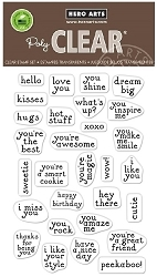 Hero Arts - Clear Stamp - Hero Greetings Mini Messages