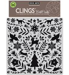 Hero Arts - Cling Rubber Stamp - Nordic Holiday Bold Prints