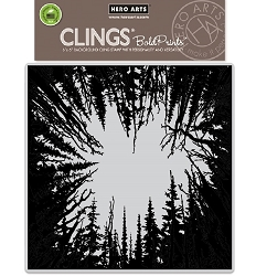 Hero Arts - Cling Rubber Stamp - Cathedral Of Trees Bold Prints