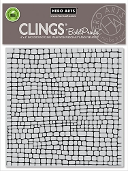 Hero Arts - Cling Rubber Stamp - Cobblestone Bold Prints