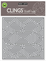 Hero Arts - Cling Rubber Stamp - Maze Bold Prints