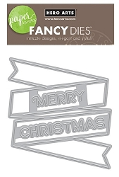 Hero Arts - Fancy Die - Merry Christmas Banner Fancy Die