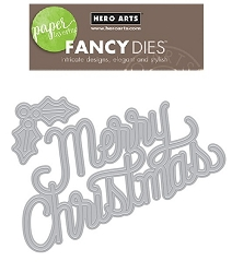 Hero Arts - Fancy Die - Christmas Message Fancy Die