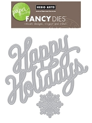Hero Arts - Fancy Die - Holiday Message Fancy Die