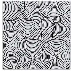 Hero Arts - Cling Rubber Stamp - Circle Pattern Bold Prints