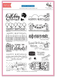 The Stamping Village - Clear Stamp - Happy Birthday