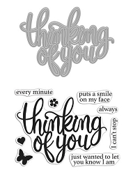 Hero Arts - Stamp & Cut - Thinking Of You Stamp & Die Set
