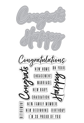 Hero Arts - Stamp & Cut - Congrats Happy Stamp & Die Set