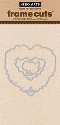 Hero Arts - Frame Cuts Die - Floral Heart Wreath Die