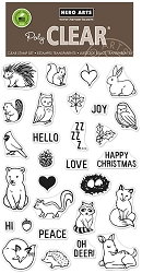 Hero Arts - Clear Stamp - Winter Forest Animals