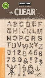Hero Arts - Clear Stamp - Log Letters & Numbers