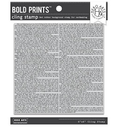 Hero Arts - Cling Rubber Stamp - Novel Prose Bold Prints