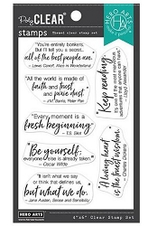 Hero Arts - Clear Stamp - Literary Quotes