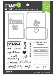 Hero Arts - Stamp & Cut - Library Card XL Stamp & Cut