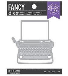 Hero Arts - Fancy Die - Typewriter Die