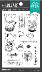 Hero Arts - Clear Stamp - Kittens In Kimonos