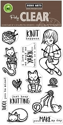 Hero Arts - Clear Stamp - Knitting