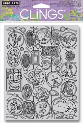 Hero Arts - Cling Rubber Stamp - Feast Background