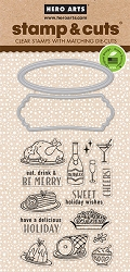 Hero Arts - Stamp & Cut - Holiday Meal Stamp & Die Set