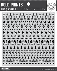 Hero Arts - Cling Rubber Stamp - Holiday Graphic Bold Prints