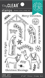 Hero Arts - Clear Stamp - Floral Nativity