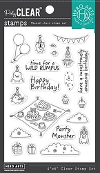 Hero Arts - Clear Stamp - Party Monsters