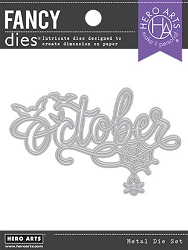 Hero Arts - Fancy Die - October Word