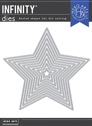 Hero Arts - Fancy Die - 5-Point Stars Infinity Dies