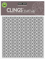 Hero Arts - Cling Rubber Stamp - Mod Pattern Bold Prints