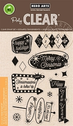 Hero Arts - Clear Stamp - Retro Christmas Messages