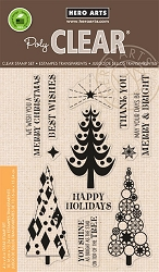 Hero Arts - Clear Stamp - Stylized Christmas Trees