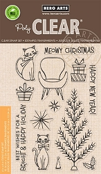 Hero Arts - Clear Stamp - Meowy Christmas