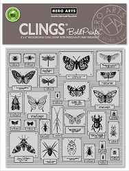 Hero Arts - Cling Rubber Stamp - Bug Collection Bold Prints