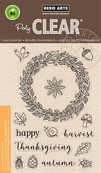 Hero Arts - Clear Stamp - Autumn Wreath
