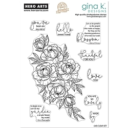 Hero Arts/Gina K - Clear Stamp - Friendship Blooms