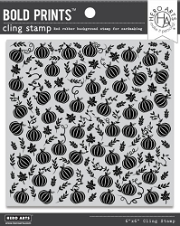 Hero Arts - Cling Rubber Stamp - Pumpkin Patch Bold Prints