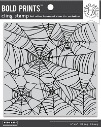 Hero Arts - Cling Rubber Stamp - Spider Web Bold Prints